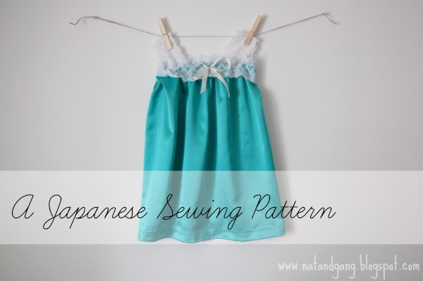 Japanese Sewing Pattern from www.natandgang.blogspot.com