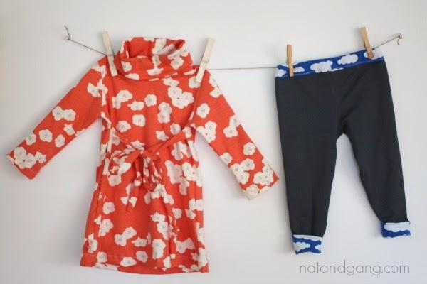 natandgang.com  Heidi and Finn Cowl Neck Dress and Reversible Leggings