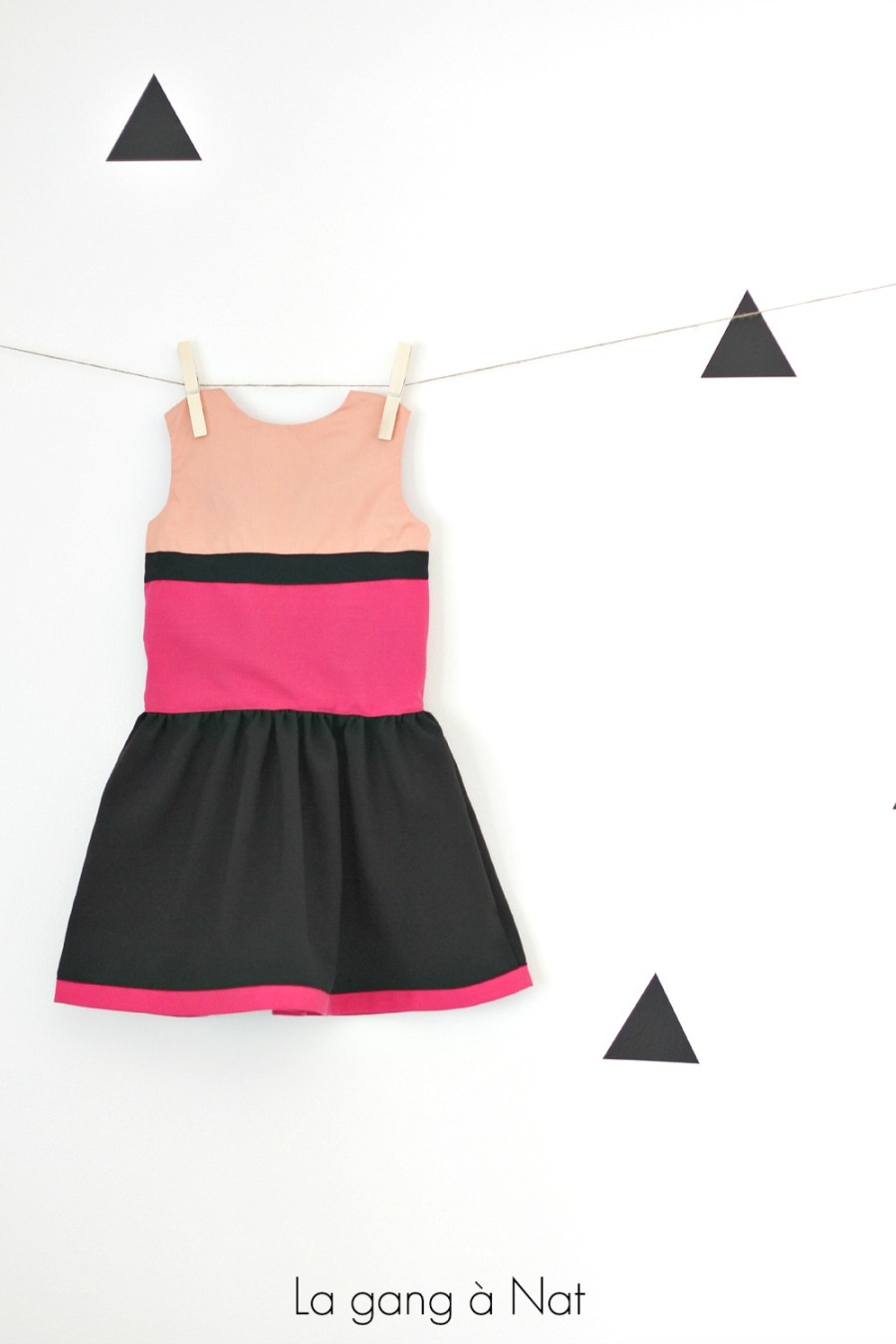 Color Block Version of the Matinée Dress by Jennuine Design, via natandgang.com